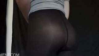 sissyformen blogger and S4M Network sexy ass in pantyhose tease