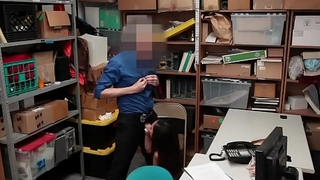Officer Fucked By Thief Teen in Office