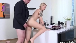 Ideal schoolgirl gets seduced and fucked by senior tutor