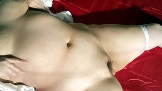 Horny thick chubby curvy BBW wife MILF big tits in stockings pussy masturbating to orgasm with dildo.