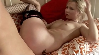 Hardcore scene with gal getting tight butthole banged