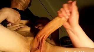 huge lubed cock with massive cumshot