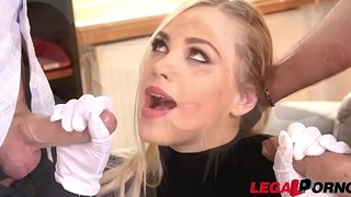 Blonde burglar Selvaggia caught in the act &amp_ ass fucked &amp_ double penetrated GP355