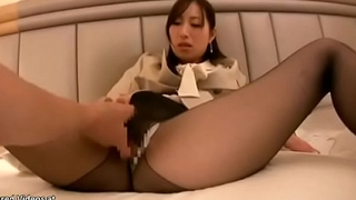 Japanese assistant POV sex in pantyhose