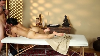 Gorgeous bigtits babe cumsprayed at massage