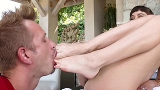 LoveHerFeet - Riley Reid In The Hottest Foot Fuck Session