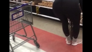 Milf bending over in store