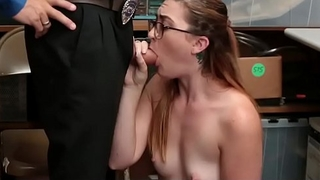 Shoplifter Fucked by Thief Teens in office