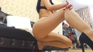 Anastasia - Sexy Ass and Feet on Pantyhose - Nyloncams