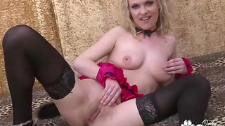 MILF In Stockings &amp_ Heels Has A Shaking Orgasm