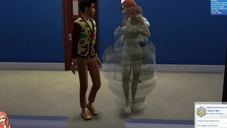 Sasha doing her job, TheSims4 Whickedwhims