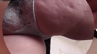 British 47yr old milf upskirt with blue nylon panties