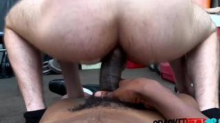 Good looking jock lets director finger and penetrate his asshole