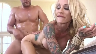 Busty alt blonde sold to rough trafficer