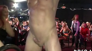 Hot young girls sucking cock at yet one greater amount dancing bear party!
