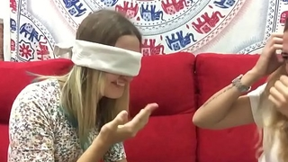 Lesbian   blonde kissing  challenge  games