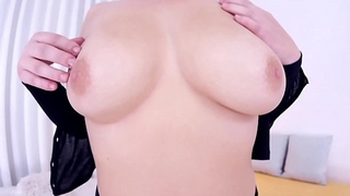 Petite big tit blonde Velvet Rain big dick POV blowjob
