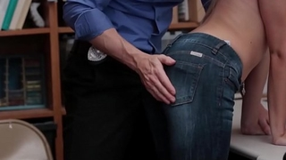 Petite Blonde Teen Shoplifter Zoey Clark Fucked By Her Best Friends Security Officer Dad