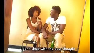 Cute African Amateur Teen Fucks Her Boss In Toilet