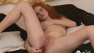 Barbara Barberue Plays With Her Hairy Red Beaver